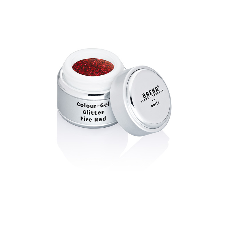 BAEHR BEAUTY CONCEPT NAILS Colour-Gel Glitter Fire Red 5 ml