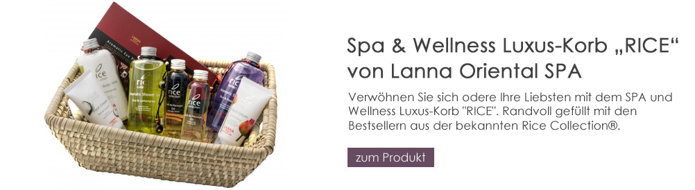 Lanna Oriental Spa Luxus-Korb RICE